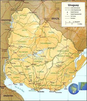 Ampliar mapa de Uruguay